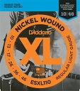 D 039 Addario ダダリオ エレキギター弦 ESXL110 (Steinberger用) XL Nickel Round Wound daddario エレキ弦 ESXL-110 【ゆうパケット対応】