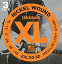 D'Addario ダダリオ エレキギター弦 EXL110-3D R.Light 010-046 【エレキ弦 EXL-110-3D daddario】【ゆうパケット対応】