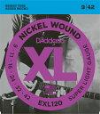 """【売れ筋!】D'Addario ダダリオ エレキギター弦 EXL120 """"XL Nickel Round Wound"""" [daddario エレキ弦 EXL-120]【ゆうパケット対応】"""