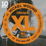 D'Addario ダダリオ エレキギター弦 EXL140-10P L.Top/H.btm 010-052【エレキ弦 EXL-140-10P daddario】