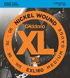 """【売れ筋!】D'Addario ダダリオ ベース弦 EXL160 """"XL Nickel Round Wound"""" [daddario exl-160]【ゆうパケット対応】"""
