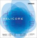 D'Addario ウッドベース弦 H611 1/2M Helicore Orchestral Bass Strings / G-MED (バラ弦/ミディアム)【ダダリオ daddario コントラバス】【ゆうパケット対応】