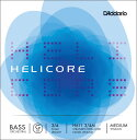 D'Addario ウッドベース弦 H611 3/4M Helicore Orchestral Bass Strings / G-MED (バラ弦/ミディアム)【ダダリオ daddario コントラバス】【ゆうパケット対応】