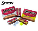 DUNLOP(ダンロップ) ゴルフボール ニュースリクソンディスタンス 1ダース(12球) NEW SRIXON DISTANCE  カラーボール