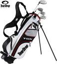 スタンドバッグ付き子供用ゴルフセット(男の子用)TearDrop(ティアドロップ) ジュニアゴルフセットTDX Boy's JR−100