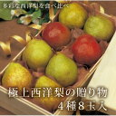 極上西洋梨の贈り物(4種8玉入) 【山形県産ラ・フランス、カリフォルニア、ゼネラル・レクラーク、コミス】