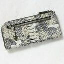 ショッピングコインケース 財布 長財布 メンズ レディース パイソン 蛇革 小銭入れあり ダイヤモンドパイソン 日本製 オリジナル 迷彩柄 カモフラージュ グリーン/緑 開運 金運
