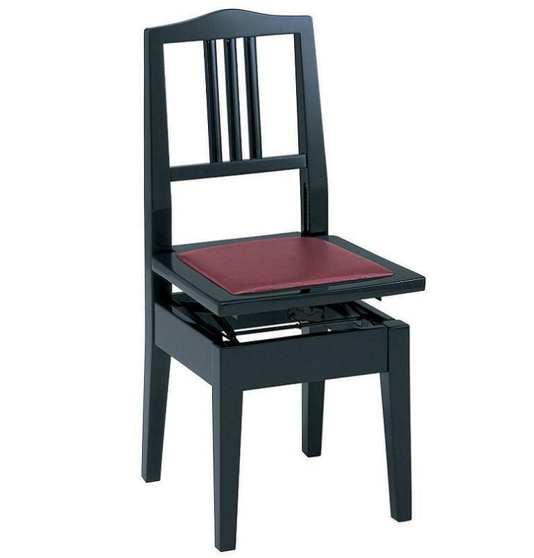 【スマホエントリーで全品ポイント10倍 12/1 9:59迄】【ポイント2倍】【送料無料】甲南 No.6 (本体:黒/座面:エンジ) ピアノイス 背もたれ付高低自在ピアノ椅子 トムソン椅子【smtb-TK】