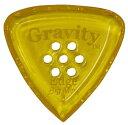 【ポイント2倍】【メール便発送・全国送料無料・代金引換不可】GRAVITY GUITAR PICKS GEEB4PM Edge -Big Mini- [4.0mm with Multi-Hole/Yellow] アクリル ピック【smtb-TK】