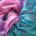 シルク100%グラデーションベール Blue/Purple/Pink sv0171 ブルー ピンク パープル