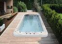2年保証のスイミングプール・激安水泳プール◆W428xD225xH130◆埋め込み式/置き型の水流プール(SP530)水流アクア・ジャグジープール、ヒーター・オゾン洗浄・マッサージ、アクアジェット、ログハウス・ホテル・スパ・エステ店/エステサロンに最適・家庭用プール