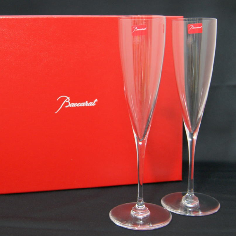 バカラグラス名入れBaccaratドンペリニョンフルートペア送料無料シャンパングラスペアグラス結婚祝