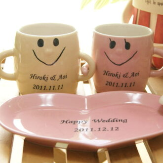 "Wedding gift pair / person put ""Nakayoshi pair mug Cup Saucer set»"
