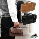 本牛革 2WAY 財布付き オーストリッチ型押しセカンドバッグ 全3色 ビジネス 冠婚葬祭におすすめ ブランドFirenze