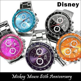 迪士尼看米老鼠手錶手錶觀看迪士尼米奇 80 周年紀念旋轉擋板米老鼠迪士尼手錶迪士尼手錶旋轉擋板計時模型孩子男裝女裝男裝女裝