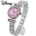 ディズニー 腕時計 ブレスレットのような腕時計 スワロフスキー 腕時計 ミニー 腕時計 ミニーマウス Disney シェル素材 文字盤 オーラ..