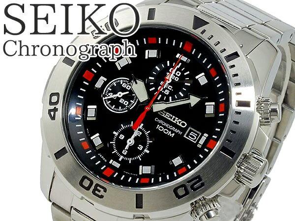 セイコー クロノグラフ 腕時計 SEIKO SNDD95P1 ウォッチ 逆輸入 メンズ うでどけい 海外モデル 【送料無料】SEIKO クロノ 男性 紳士MENS MEN'S 時計 とけい クォーツ 10気圧防水 限定品 プレゼント ギフト  SNDD95P1