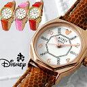 【あす楽 1年保証有】腕時計 ディズニー レディース ミッキー 腕時計 スワロフスキー 時計 Disney 八角形 腕時計 女性用 LADYS キッズ 女性 レザーベルト 全4色 本牛革 ベルト 限定