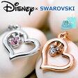 ディズニー ネックレス スワロフスキー ネックレス Disney オープンハート ハート ドロップ ミッキーマウス 24金仕上げ Mickey Heart ネックレス SWAROVSKI社のクリスタル使用 限定 02P01Oct16
