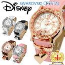ディズニー 腕時計 レディース ミッキー ハート 腕時計 ミッキーマウス 腕時計 ハート チャーム付き Disney スワロフスキー ハート ギフト ディズニー 時計 Mickey Mouse 女性用 限定 うで時計 本革 クロコ型押し