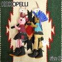 【Kokopelli】 ココペリ インディアン ガール チーフ Sサイズ ドール 人形 雑貨 ストラップ ハンドメイド 0601楽天カード分割
