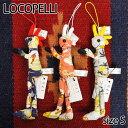 【Locopelli】 ロコペリ アロハ柄 Sサイズ ドール 人形 雑貨 ストラップ ココペリ ハンドメイド 0601楽天カード分割