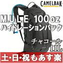 【13時までのご注文で、土日・祝日もあす楽対応】キャメルバック CAMELBAK M.U.L.E ミュール ハイドレーションパック 100oz チャコール
