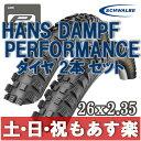 Schwalbe シュワルベ マウンテンバイク Hans Dampf ハンスダンプ パフォーマンス マウンテンバイク MTB タイヤ 2本セット 26x2.35...