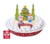 (3424)冷凍≪送料込☆ クリスマスケーキ・Xmas7号≫【ブルーシール アイスケーキ [バニラ] 】≪※クリスマス期間中の日付指定不可です。≫