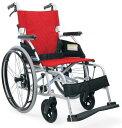 [カワムラサイクル] アルミフレーム自走用車いす(軽量ベーシックモジュール) BML22-40SB<後輪ソフトタイヤ>(中床タイプ・前座高43cm)