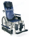 [カワムラサイクル] RR42-N フルリクライニング車椅子 自走式 介助ブレーキなし 脚部エレベーティング&スイングアウト リーズナブル 折..