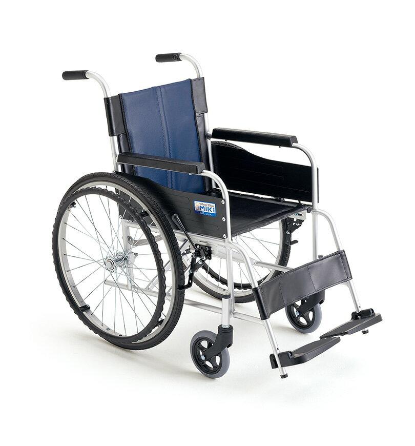 [ミキ] アルミフレーム自走用車いす BAL-0 (ノーパンクタイヤ)