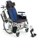 ショッピングリクライニング 【法人宛送料無料】[ミキ] BAL-11 ティルト・リクライニング車椅子 自走式 ノーパンクタイヤ仕様 肘掛跳ね上げ 脚部スイングアウト リーズナブル 折りたたみ 耐荷重100kg MiKi