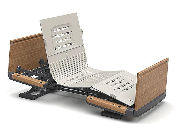 [パラマウントベッド] 電動ベッド 楽匠Z KQ-7213S(スマートハンドル付属 2モーションタイプ レギュラーサイズ・83cm幅対応 木製ボード(ハイタイプ)) ベッドの傾斜を組み合わせたまったく新しい背あげ機構ラクリアモーション