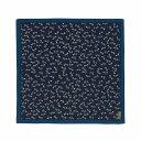 49cm幅 古粋屋 トンボ 綿シャンタン風呂敷/コン×ブルー 和柄 和文様