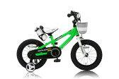 14インチ ROYAL BABY ロイヤルベビー 子供用自転車 カゴ付 RB-Freestyle14 グリーン 31909