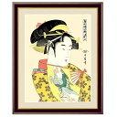 浮世絵 額絵 美人画 「 道成寺 」 作:喜多川歌麿 (特小サイズ・写真立て仕様:20×15cm) G4-BU033