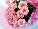 ピンクバラ ラメ付きピンク系一本レビュー2件プレゼントに◎