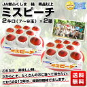 JA新ふくしま協賛!最高級品質 桃「ミスピーチ」秀品以上 2箱4キロで2,980円 送料無料!