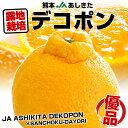 送料無料 熊本県より産地直送 JAあしきた 露地栽培 デコポン (優品) 3キロ(10〜12玉)