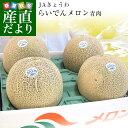 北海道より産地直送 JAきょうわ らいでんクラウンメロン 青肉 超大玉 8キロ(