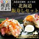 送料無料 北海道寿都町 山下水産 北海道飯寿しセット (ほっけ・紅鮭) 各300g 飯寿司