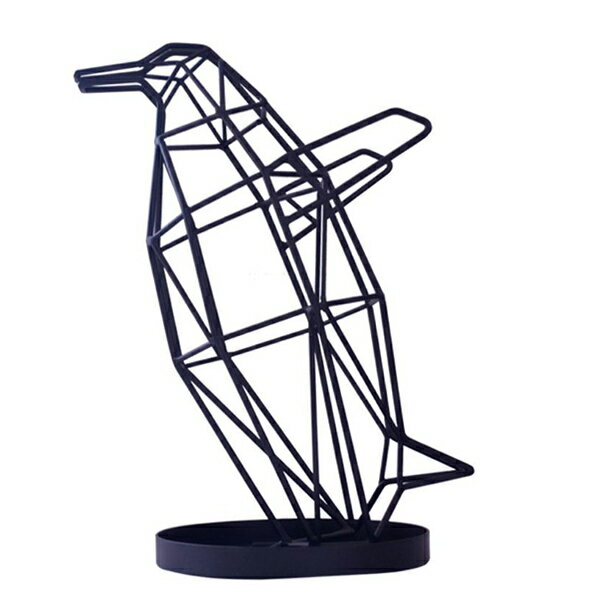 【ACT WORK'S/アクトワークス】シャドーワイヤー アンブレラスタンド ベビーペンギン【傘立て BABY PENGUIN デザイン雑貨 SHADOW WIRE UMBRELLA STAND 鳥 ミニペンギン】