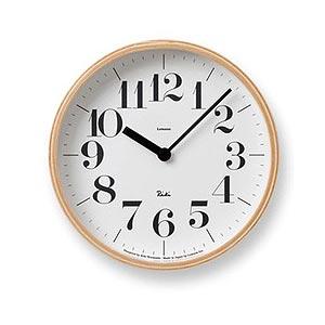 ポイント最大20倍!【Lemnos/レムノス】RIKI CLOCK / リキクロック S(太文字)【見やすい おしゃれ 御祝 アナログ 掛け時計】