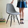 【デザイナー:チャールズ&レイ・イームズ】商品名:シェルサイドチェア(DSW)Manhattan【復刻版・ジェネリック・リプロダクト】【ダイニングチェア】【椅子】【PCチェア】【珍品】【モノトーン】【CHER01】【CH6137】【千鳥格子】