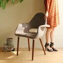 【選べる4色☆】【デザイナー:イームズ & エーロ・サーリネン】商品名: Organic Chair(オーガニックチェア)プレミアム【リプロダクト・ジェネリック】【デザイナーズ】【ダイニングチェア】【布地】【高品質】【アームチェア】
