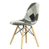 【デザイナー:チャールズ&レイ・イームズ】商品名:シェルサイドチェア(DSW)California【復刻版・ジェネリック・リプロダクト】【ダイニングチェア】【椅子】【PCチェア】【楽天】【珍品】【パッチワーク】【CHER01】【CH6137】