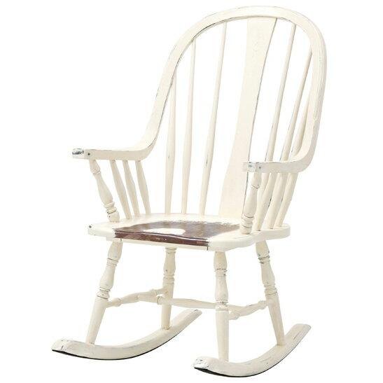 商品名:ウィンザーロッキングチェア【お洒落】【ナチュラル系】【パリ】【ヴィンテージ風】【木製】【天然木】【書斎】【椅子】【カフェ】【チェア】【】【通販】 歴史を感じるヴィンテージ加工がお洒落な椅子/アンティーク風/ヴィンテージ風/北欧/クラシック