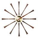 【デザイナー:ジョージ・ネルソン】商品名:ネルソン スピンドル(クロック)【ハイクラス・リプロダクト / 復刻版 / 保証付き】【ウォールナット】【真鍮】【時計】【木製】 【掛け時計】【大きい】【ミッドセンチュリー】【デザイナーズ】