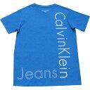 儿童, 婴幼儿, 母婴用品 - 【ジュニア】Calvin Klain Jeans(カルバンクラインジーンズ) VネックロゴTシャツ(Blue)